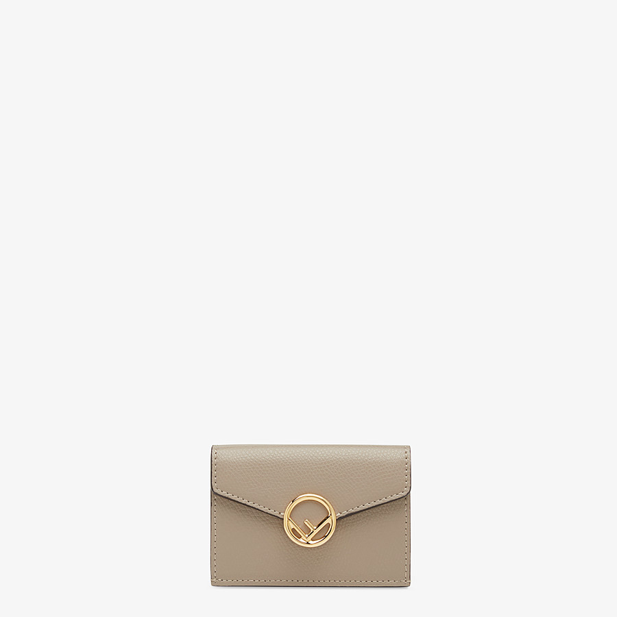 FENDI MICRO TRIFOLD - Beige leather wallet - view 1 detail