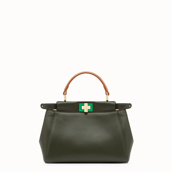 FENDI PEEKABOO MINI - Green nappa handbag - view 1 small thumbnail