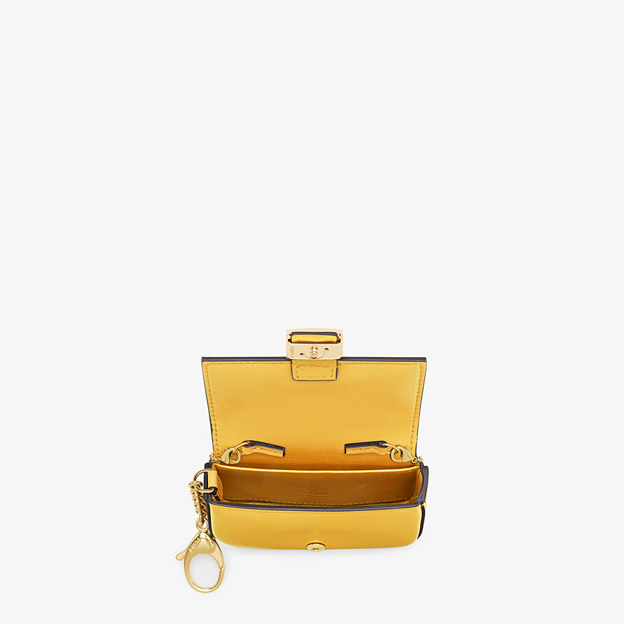 FENDI NANO BAGUETTE CHARM - Yellow leather charm - view 5 detail