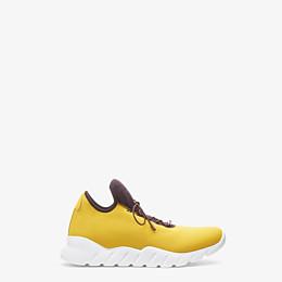 FENDI SNEAKER - Hoher Sneaker aus Stoff in Gelb - view 1 thumbnail