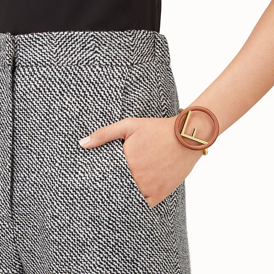 FENDI F IS FENDI BRACELET - Brown and gold bracelet - view 2 detail