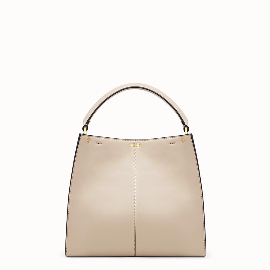 FENDI PEEKABOO X-LITE MEDIUM - Beige leather bag - view 5 detail