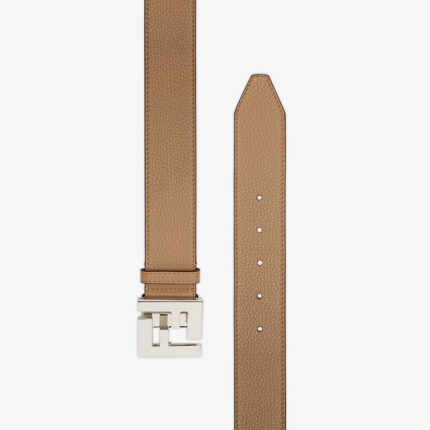 FENDI BELT - Beige leather belt - view 2 detail