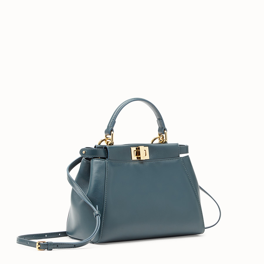 FENDI PEEKABOO MINI - Green leather bag - view 2 detail