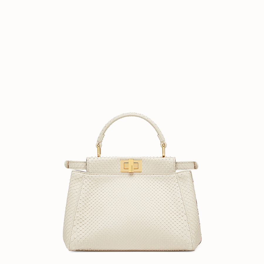 FENDI PEEKABOO MINI - White python bag - view 3 detail