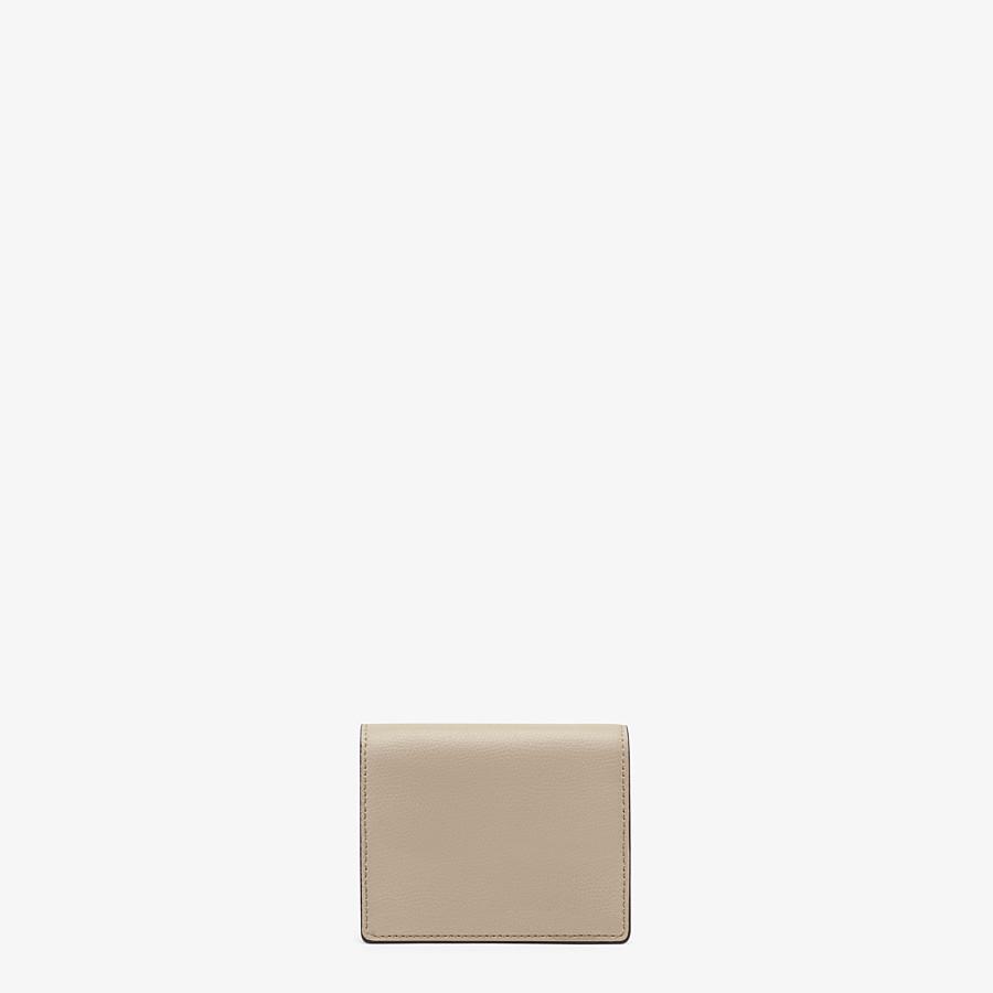 FENDI PORTEMONNAIE MIT TRAGEKETTE - Mini-Tasche aus Leder in Beige - view 3 detail