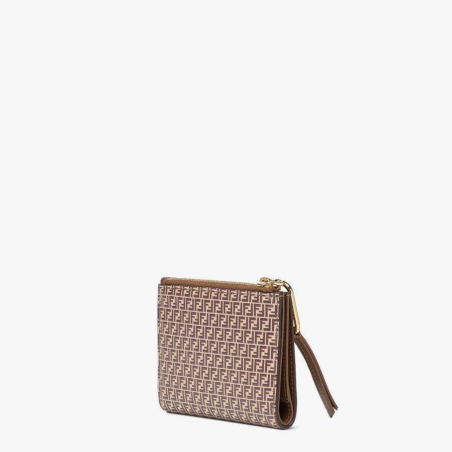 FENDI MEDIUM WALLET - Beige leather wallet - view 2 detail