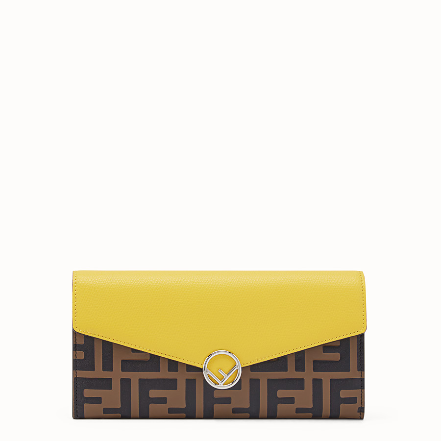 FENDI CONTINENTAL - Yellow leather wallet - view 1 detail