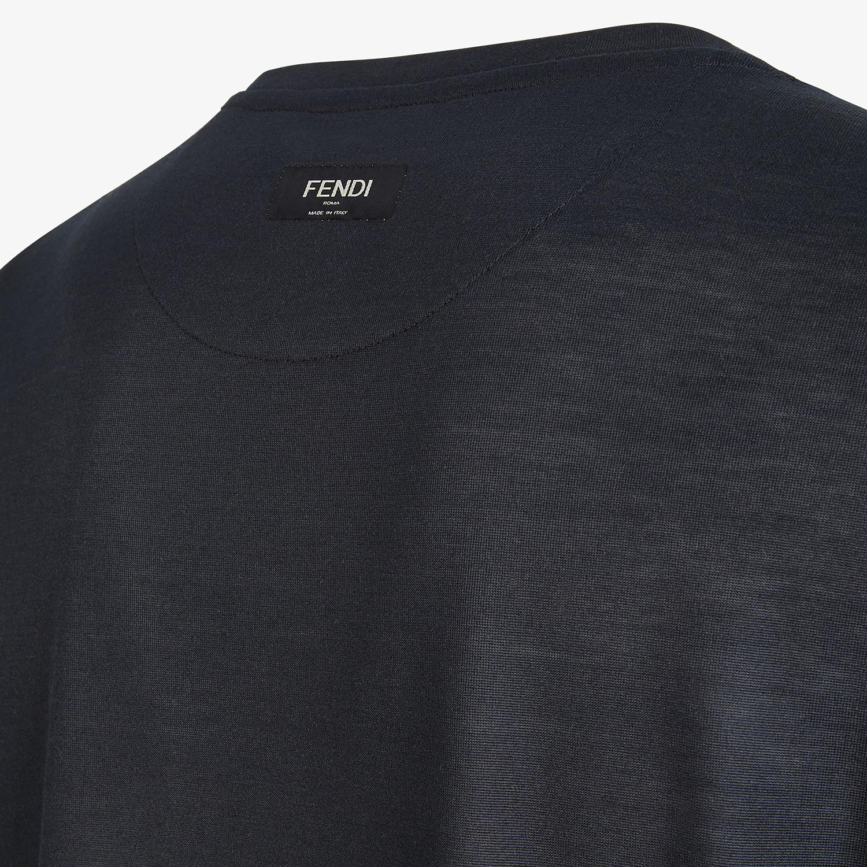 FENDI T-SHIRT - Black silk T-shirt - view 3 detail