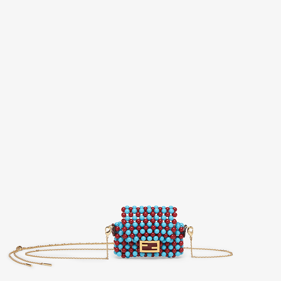 FENDI PICO BAGUETTE CHARM - White charm with beads - view 1 detail