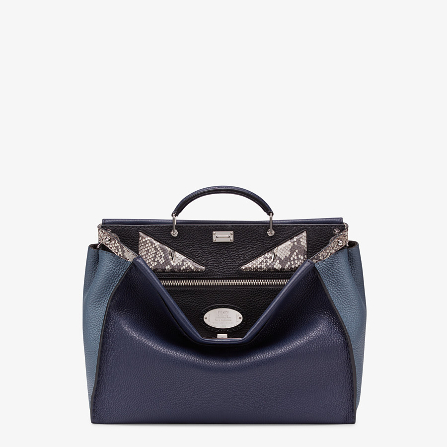 FENDI PEEKABOO MEDIUM - Blue Romano leather bag - view 1 detail