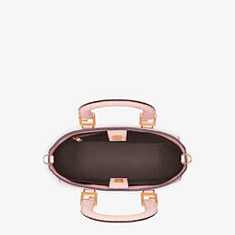 FENDI FF TOTE SMALL - Pink leather bag - view 5 thumbnail