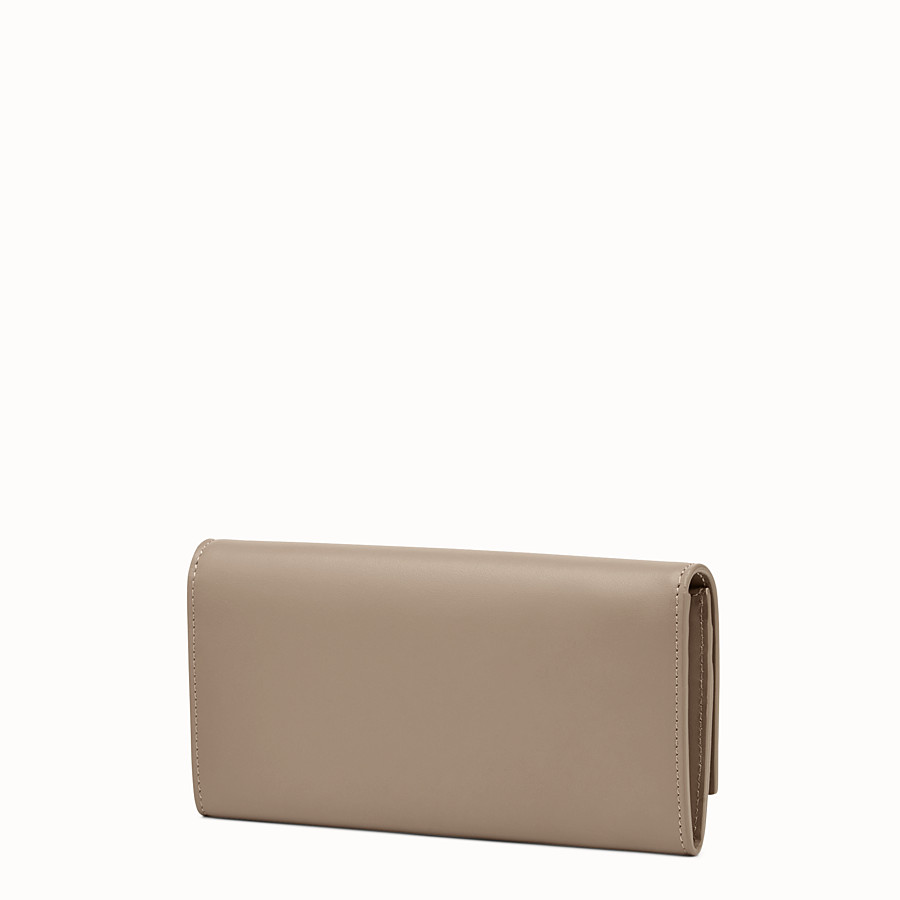 FENDI PEEKABOO CONTINENTAL WALLET - Continental wallet in grey leather - view 2 detail