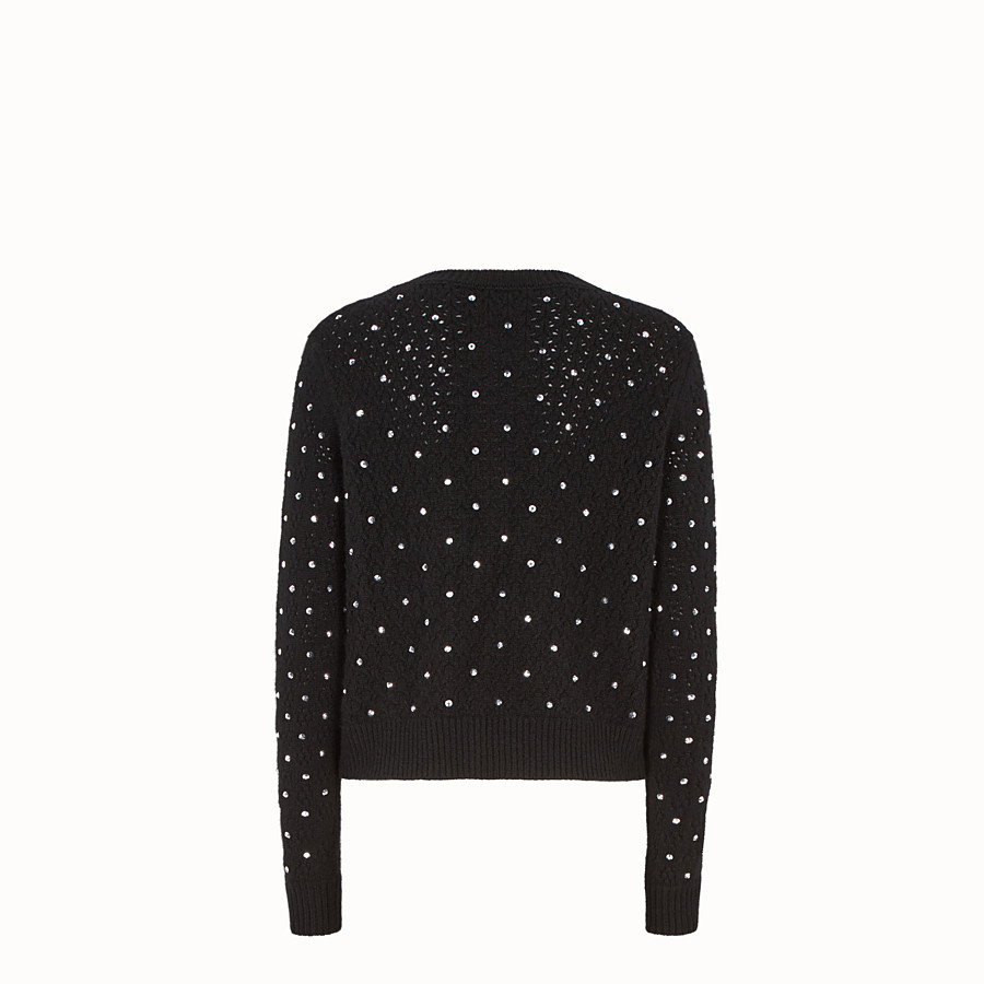 FENDI PULLOVER - Black cashmere jumper - view 2 detail