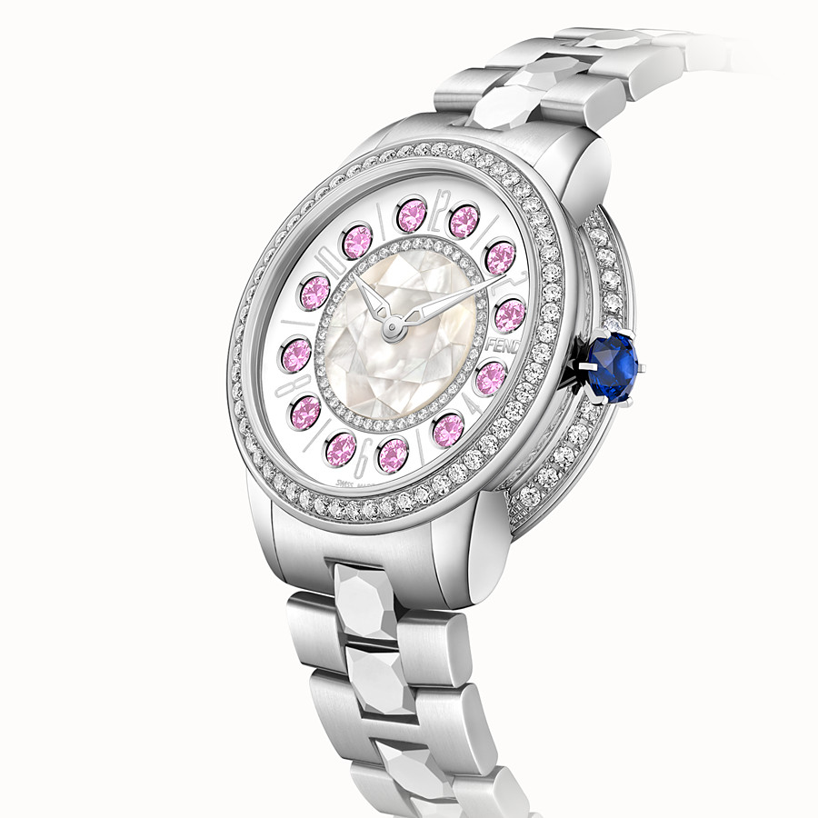FENDI FENDI ISHINE - 38 MM - Watch with diamonds and rotating precious stones - view 3 detail
