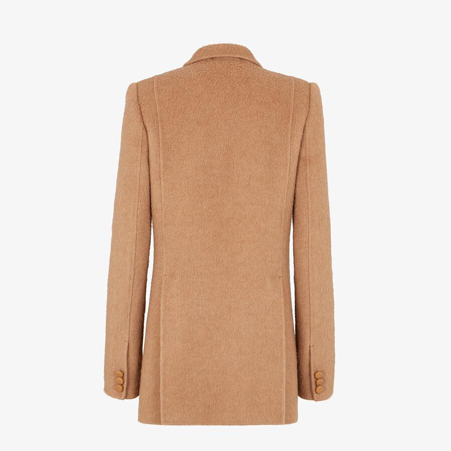 FENDI PEA COAT - Brown camel hair pea coat - view 2 detail