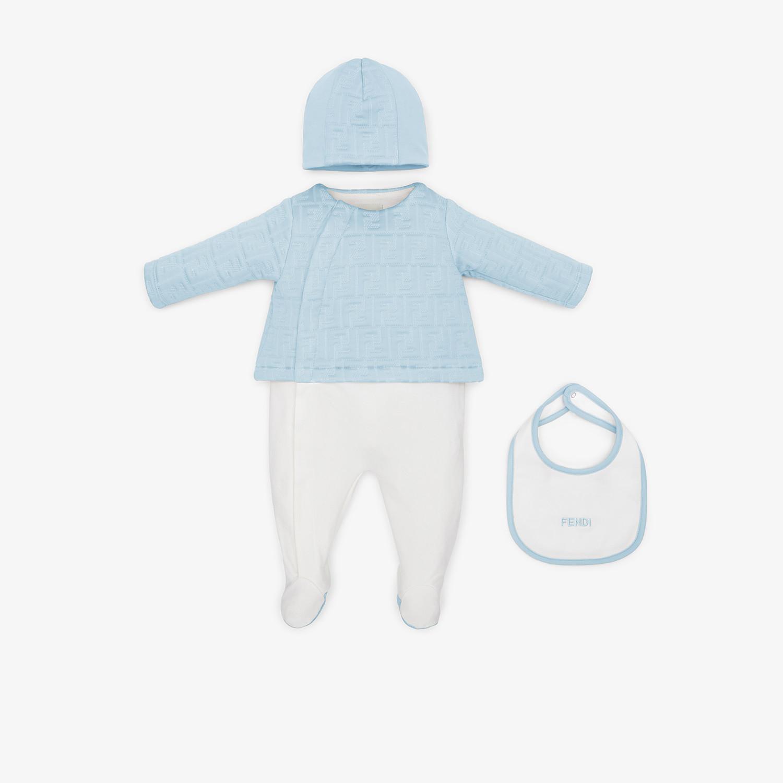 FENDI SET - Kit baby in misto cotone celeste - vista 1 dettaglio