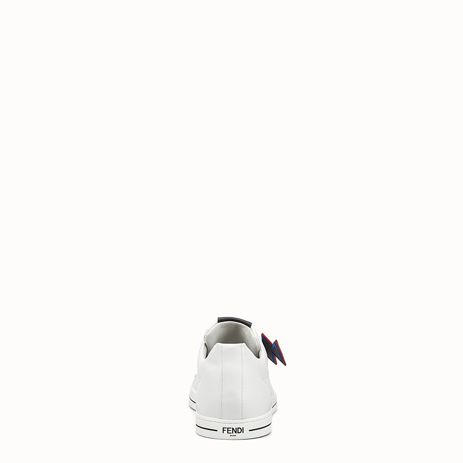 FENDI SNEAKER - White lace-up with lightning bolt - view 3 detail