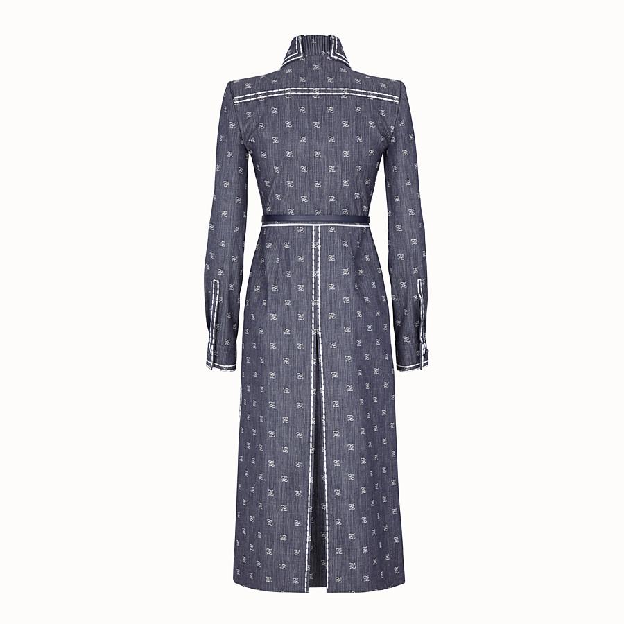 FENDI KLEID - Kleid aus Drill in Blau - view 2 detail