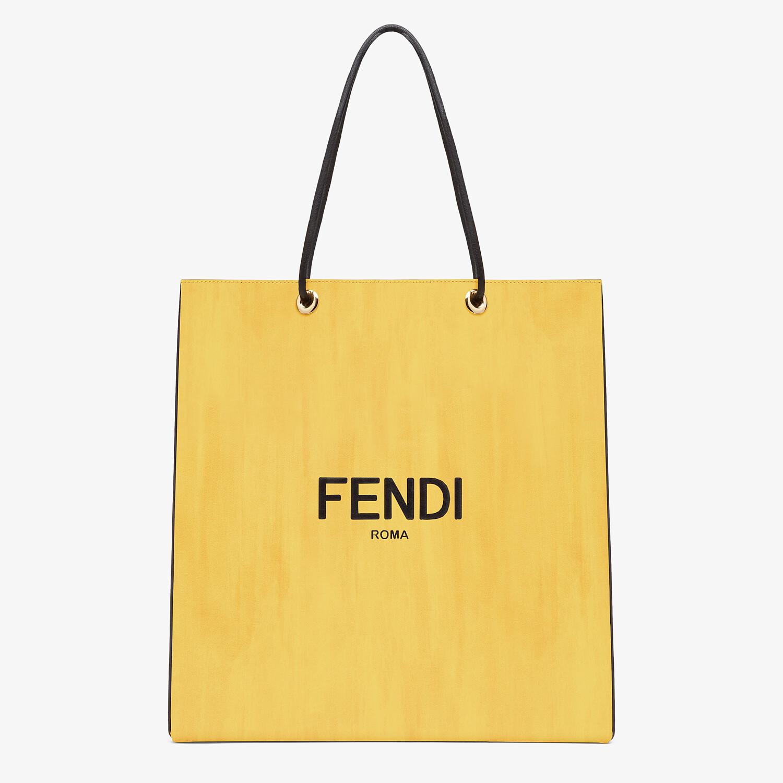 FENDI FENDI PACK MEDIUM SHOPPING BAG - Yellow leather bag - view 1 detail