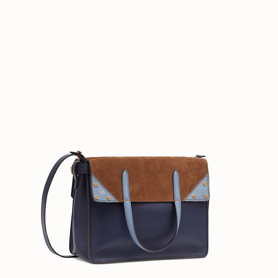 FENDI FENDI FLIP MEDIUM - Dark blue leather bag - view 3 detail