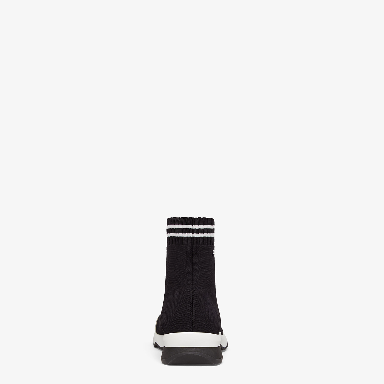 FENDI SNEAKERS - Black fabric sneakers - view 3 detail
