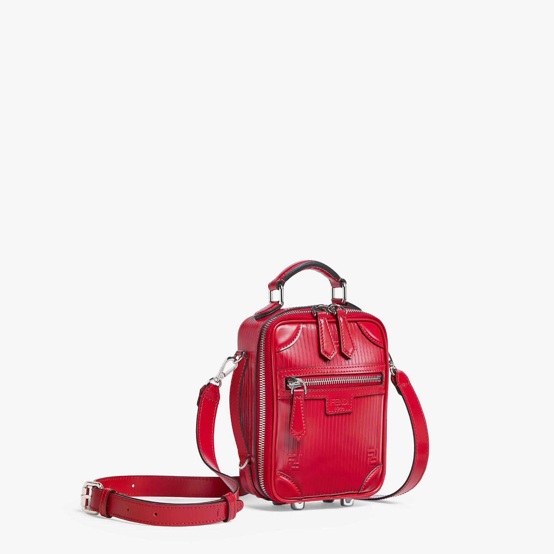 FENDI TRAVEL MINI BAG - Red leather bag - view 2 detail