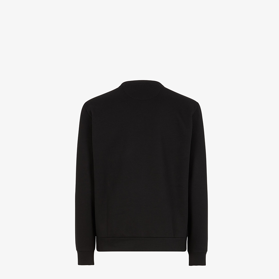 FENDI SWEATSHIRT - Black cotton - view 2 detail