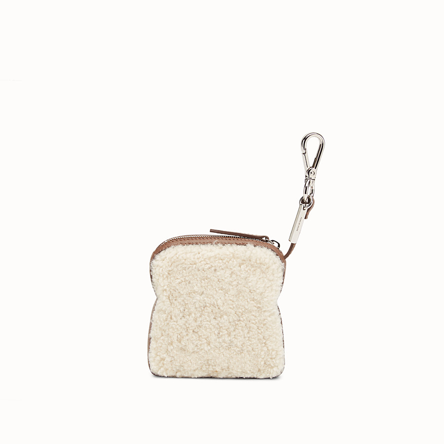 FENDI COIN PURSE - Multicolour sheepskin charm - view 2 detail