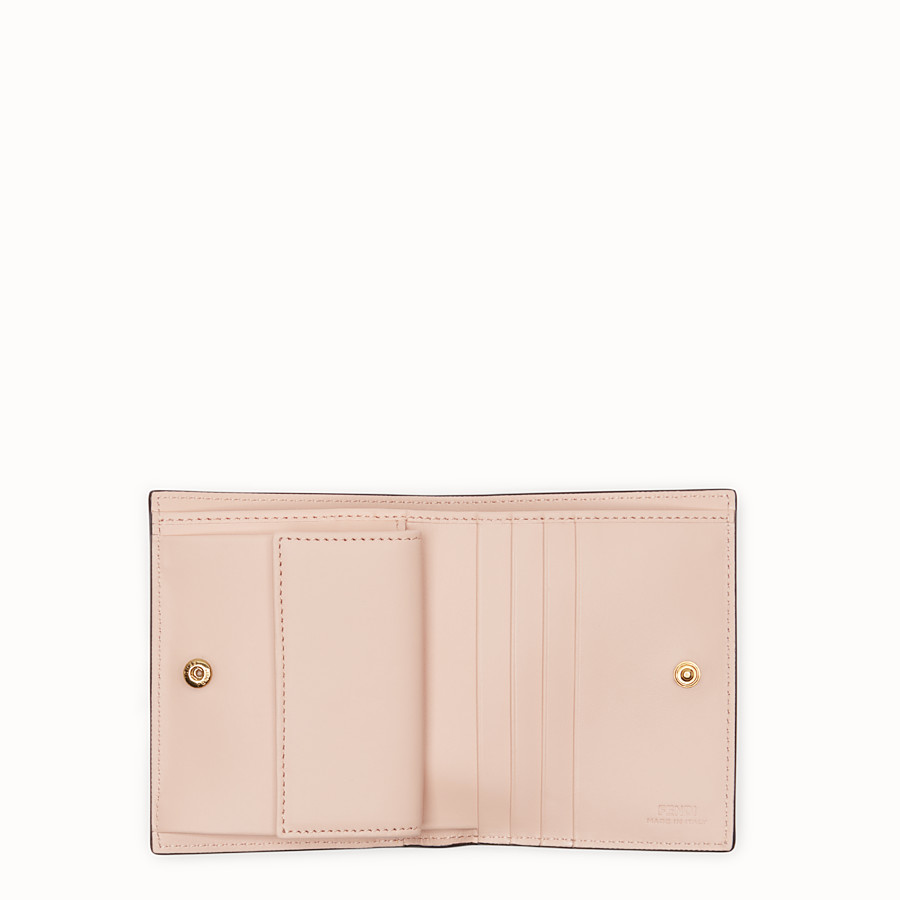 FENDI BIFOLD - Pink leather compact wallet - view 3 detail