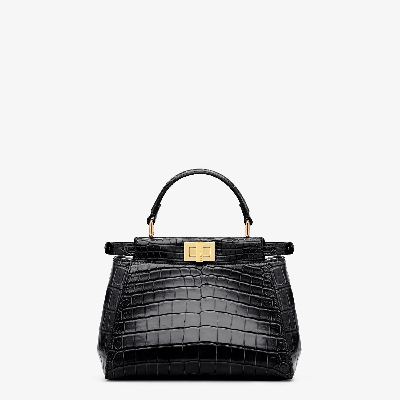 FENDI PEEKABOO MINI - Black crocodile handbag - view 3 detail