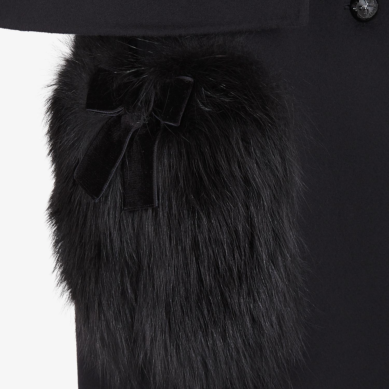 FENDI COAT - Black wool coat - view 3 detail