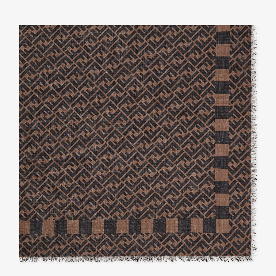 FENDI KEFFIYEH - Cashmere, wool and silk scarf - view 1 detail