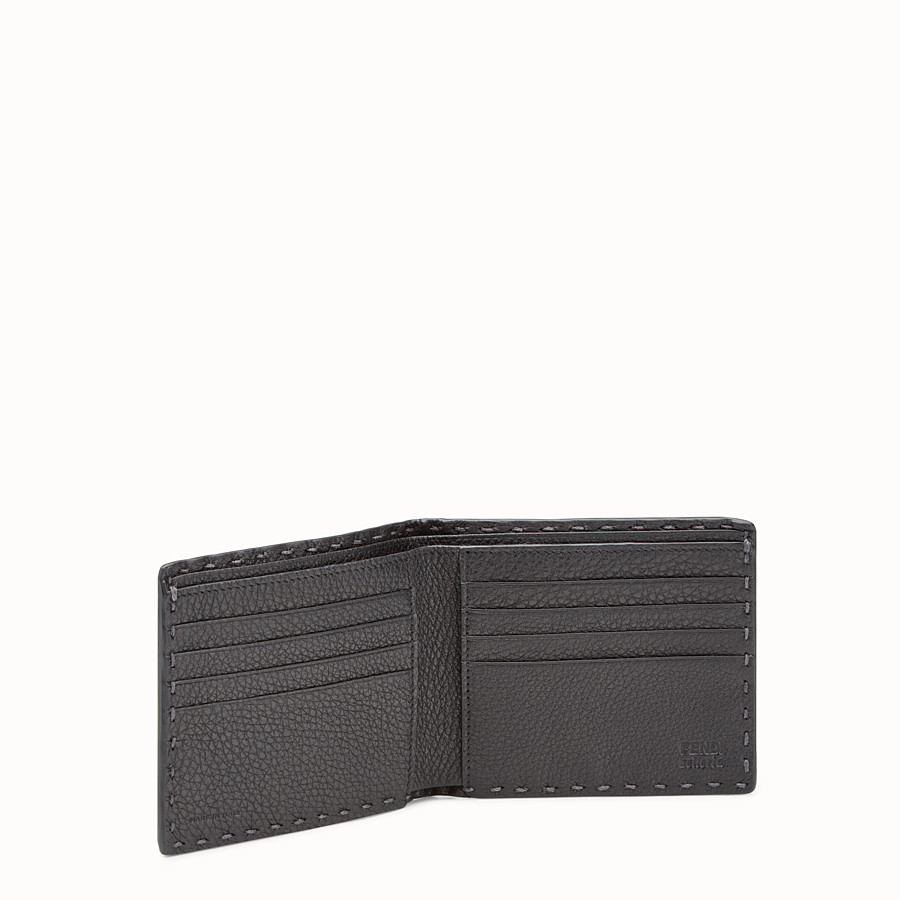 FENDI WALLET - Grey Roman leather horizontal wallet - view 3 detail