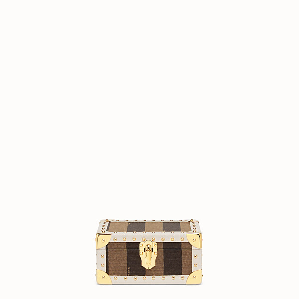 FENDI TRAVEL CASE SMALL - Travel case in brown jacquard - view 1 small thumbnail