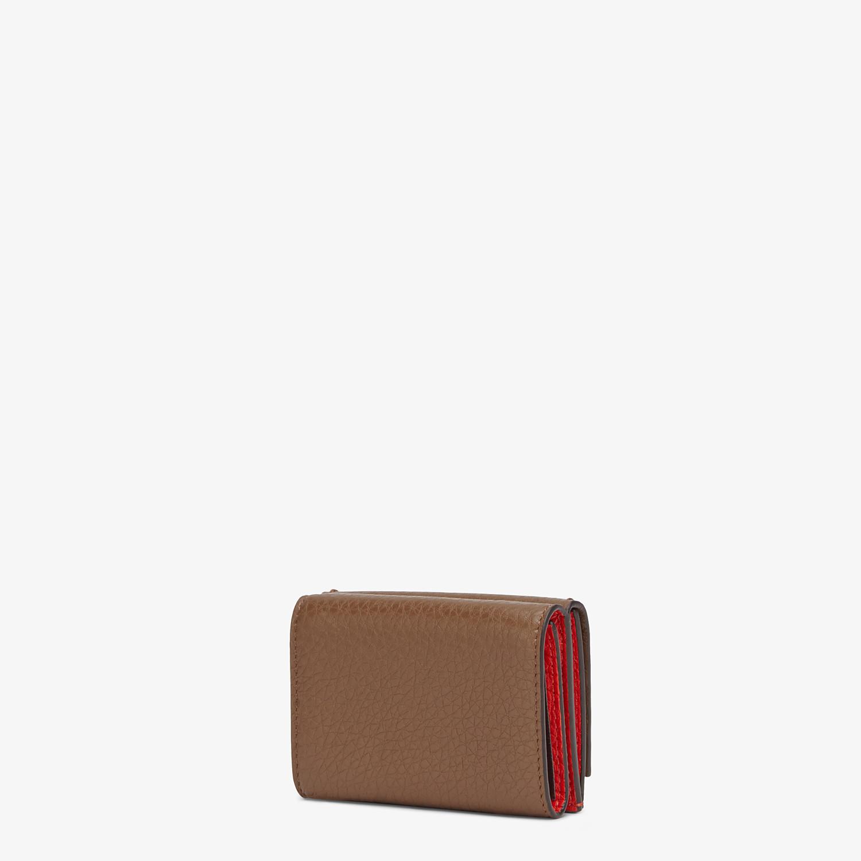 FENDI マイクロ 三つ折り財布 - ブラウンレザー 財布 - view 2 detail