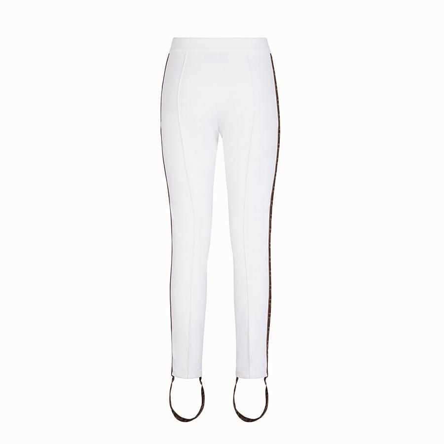 FENDI LEGGINGS - White stretch fabric leggings - view 2 detail