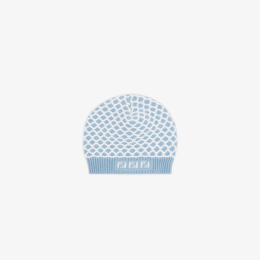 FENDI BONNET POUR BÉBÉ - Bonnet bébé en maille bleu ciel - view 1 detail