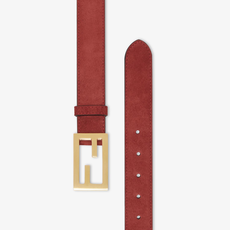 FENDI CINTURA - Cintura in pelle scamosciata marrone - vista 2 dettaglio