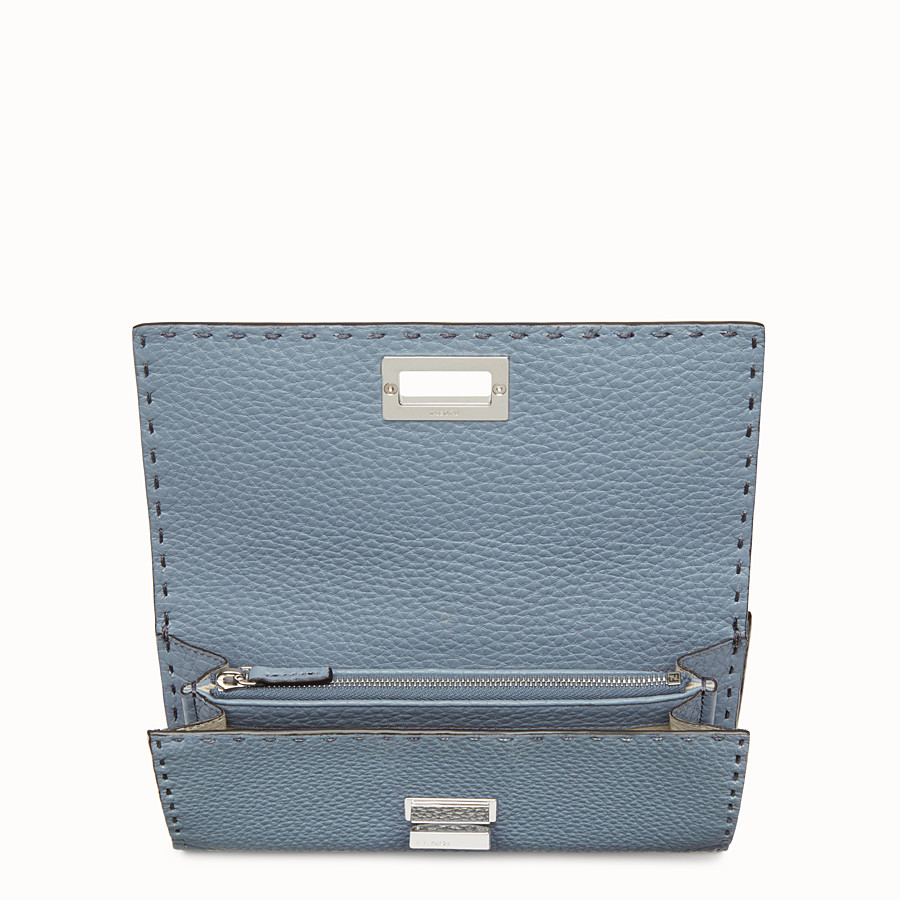 FENDI CONTINENTAL - Pale blue leather wallet - view 4 detail
