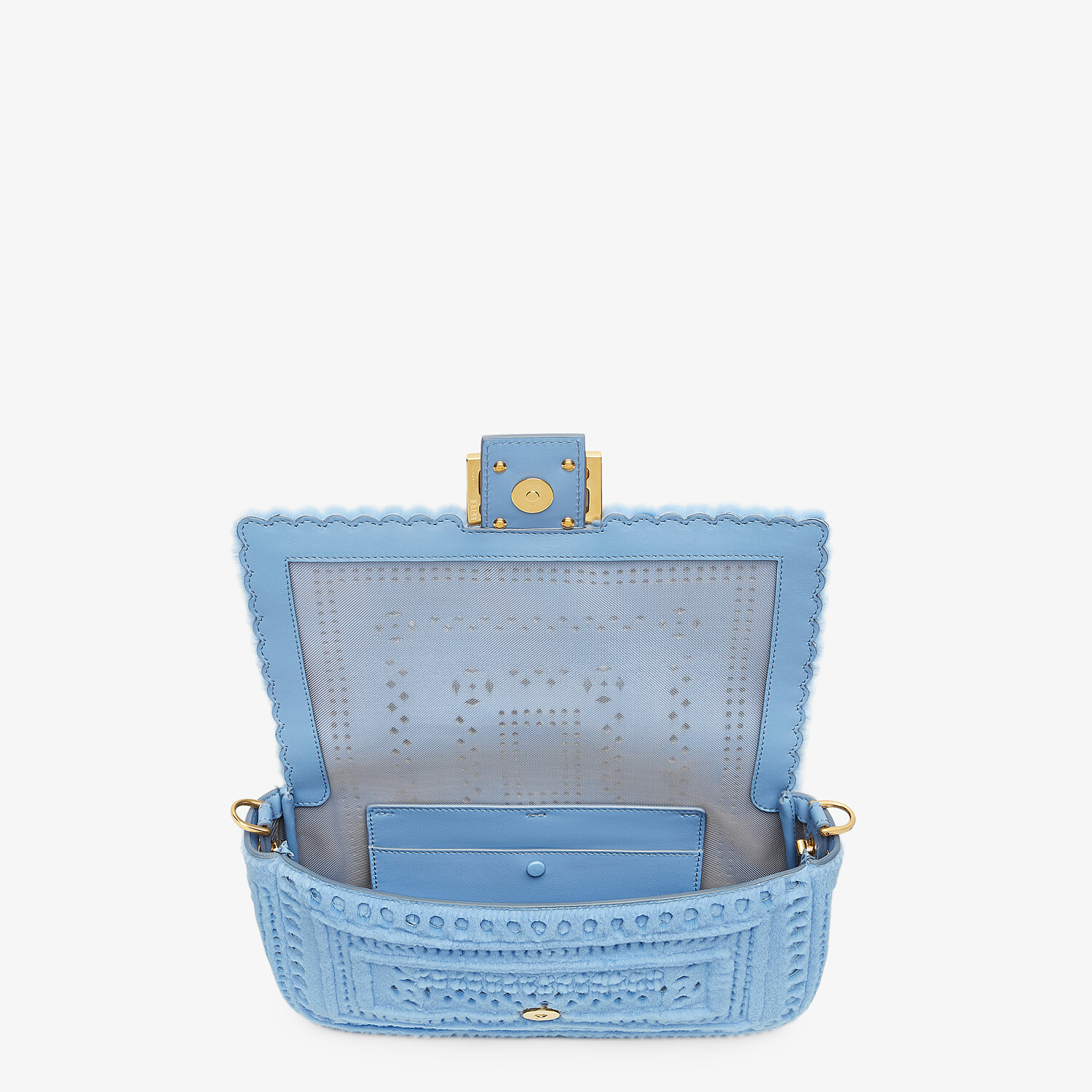 FENDI BAGUETTE - Blue mink bag - view 4 detail