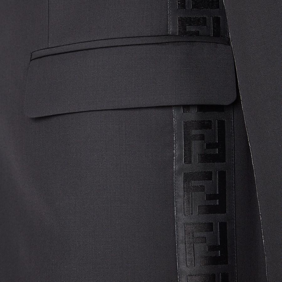 FENDI GIACCA - Blazer in lana nera - vista 3 dettaglio