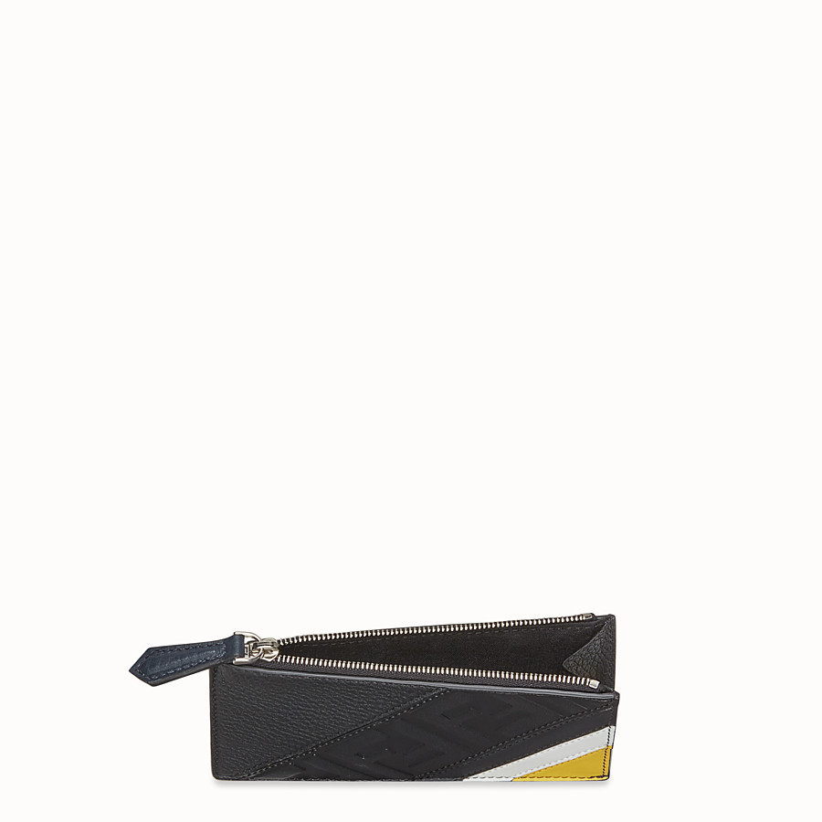 FENDI COIN PURSE - Black leather coin purse - view 3 detail