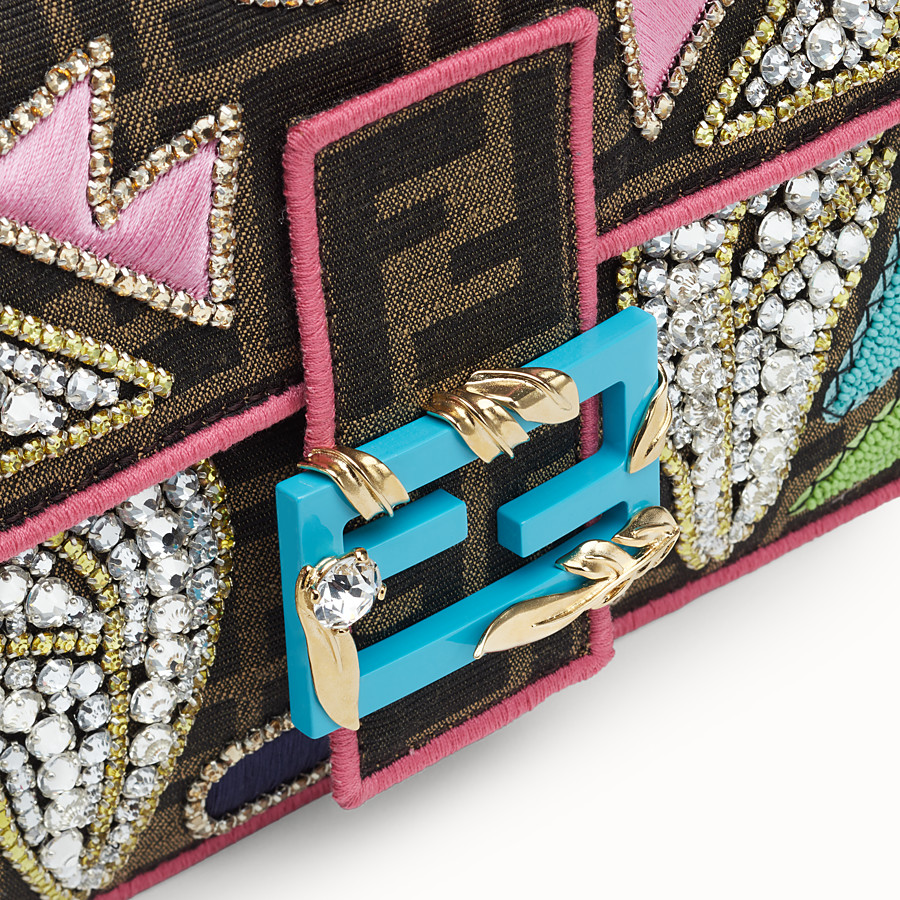 FENDI BAGUETTE - Multicolour fabric bag - view 5 detail
