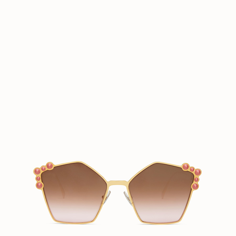 FENDI キャナイ - Rose gold sunglasses - view 1 detail