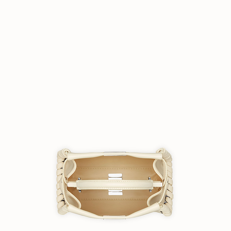 FENDI PEEKABOO MINI - White leather bag - view 4 detail