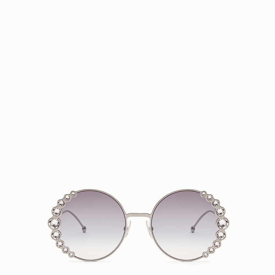 FENDI RIBBONS & CRYSTALS - Ruthenium-coloured sunglasses - view 1 detail