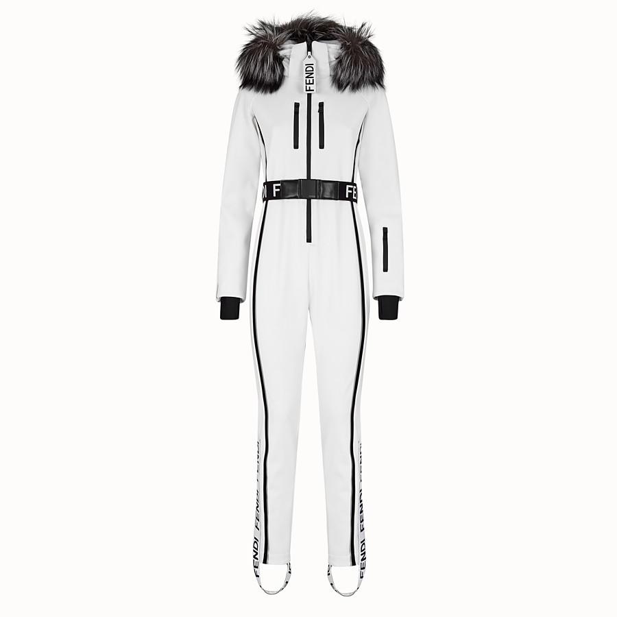 FENDI JUMPSUIT - White tech fabric jumpsuit - view 1 detail