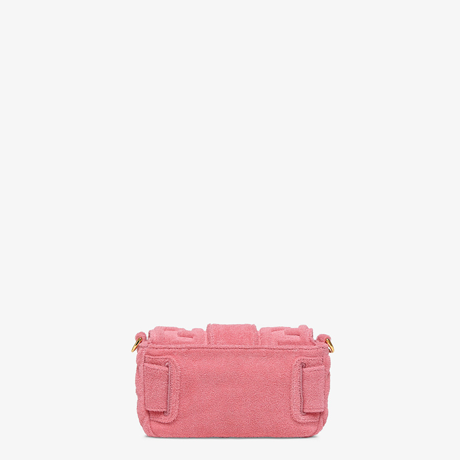 FENDI BAGUETTE - Pink terrycloth bag - view 5 detail