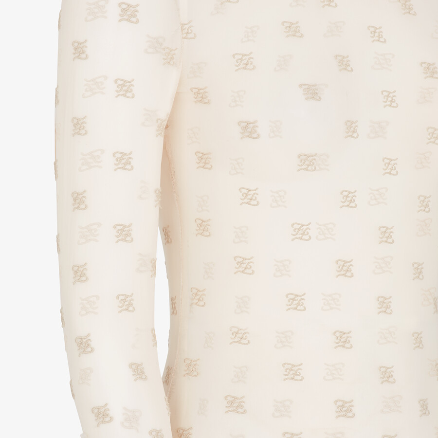 FENDI BODYSUIT - White tulle body - view 3 detail